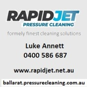 Rapidjet pressure cleaning mobile ph bizcard