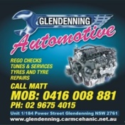 Glendenning automotive mobile ph business card