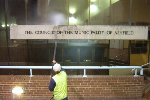 Ashfield Council Town Hall Pressure Cleaning