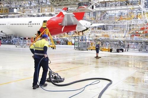 Airport Hangar Floor Cleaning