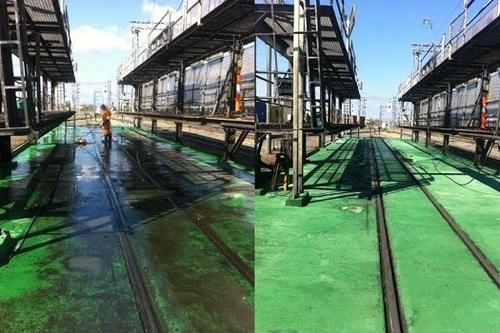 Railway Yard Pressure Cleaning