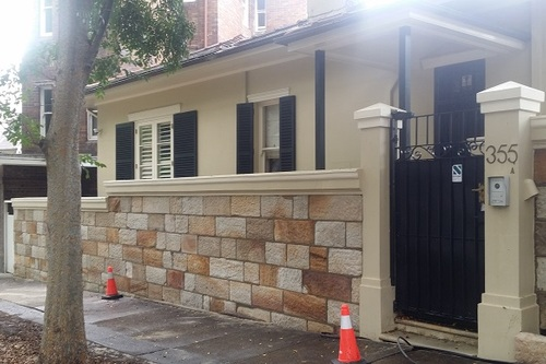 Heritage Sandstone Wall Cleaning