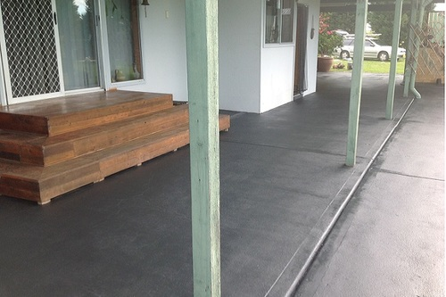 Concrete Painting Patio Area