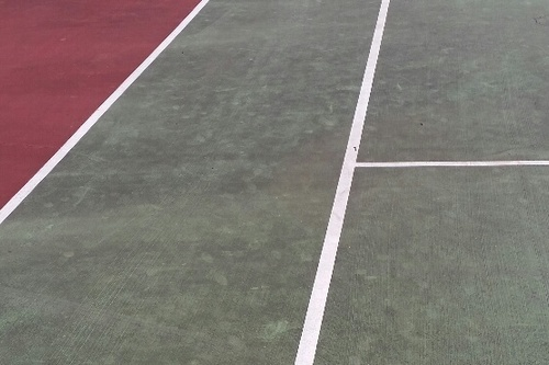 Tennis Hard Court Before