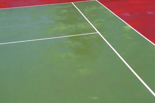 Tennis Hard Court After