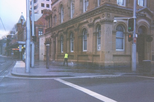 Sydney City Library Haymarket Branch Sandstone Building Washing Cnr of Hay and George St