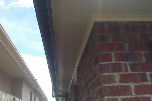 Home eaves cleaning mould and cobwebs