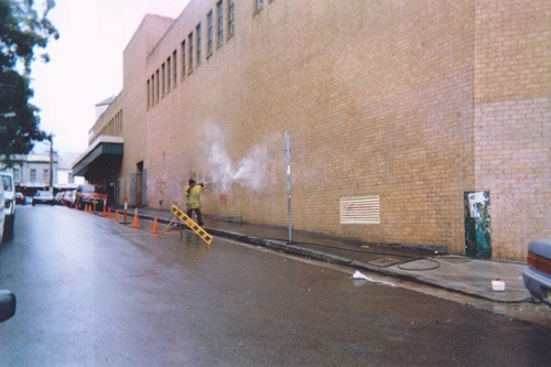 Graffiti removal Newtown Plaza