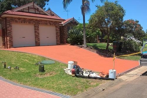 stencil driveway resurfacing