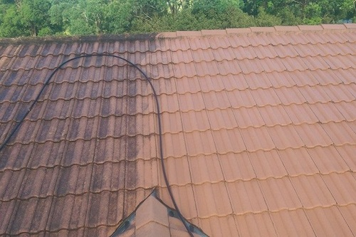 Concrete Roof Tile Cleaning