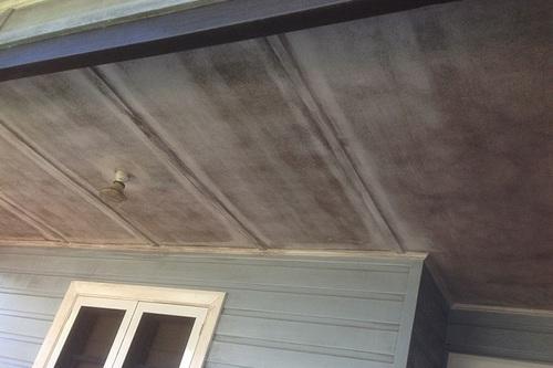 Mould under home eaves