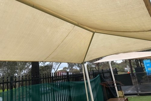 Shade sail clean after