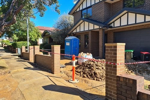Brick Cleaning Fence